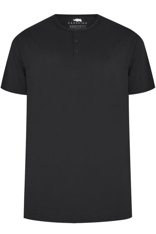 BadRhino Black Short Sleeve Grandad T-Shirt