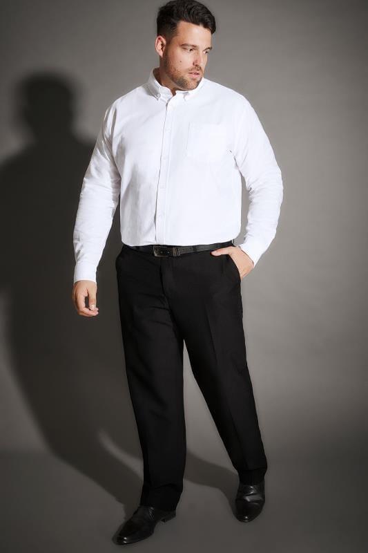 BadRhino Black Single Pleat Smart Trousers_7c32.jpg