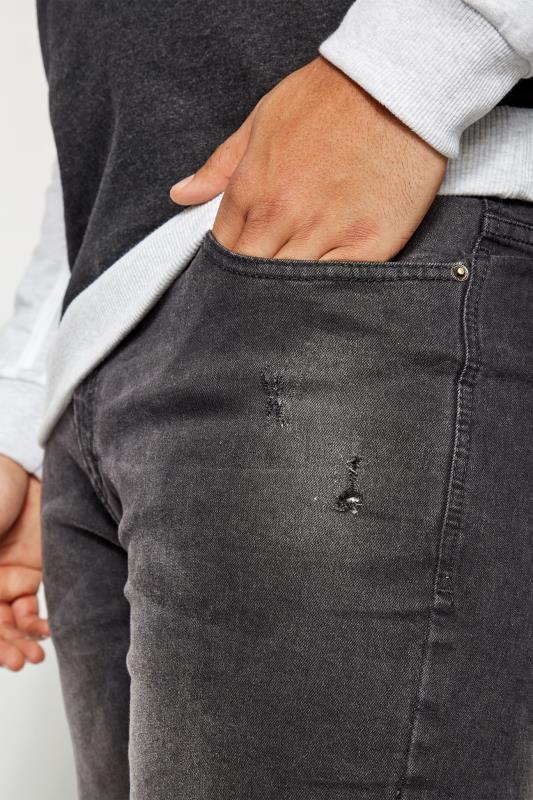 BadRhino Black Slim Tapered Fit Stretch Jeans