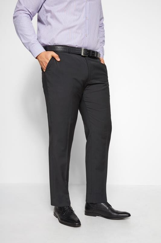 Plus Size Smart Trousers BadRhino Black Suit Trousers
