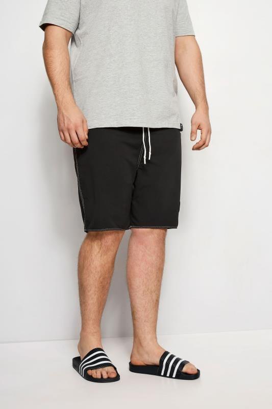 Plus Size Swim Shorts BadRhino Black Swim Shorts