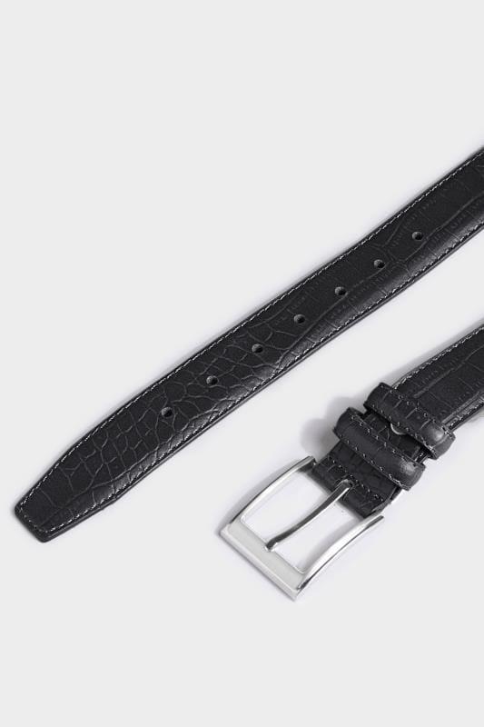 BadRhino Black Textured Bonded Leather Belt