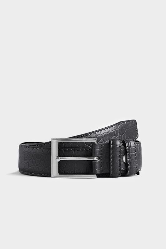 Plus Size Belts & Braces BadRhino Black Textured Bonded Leather Belt