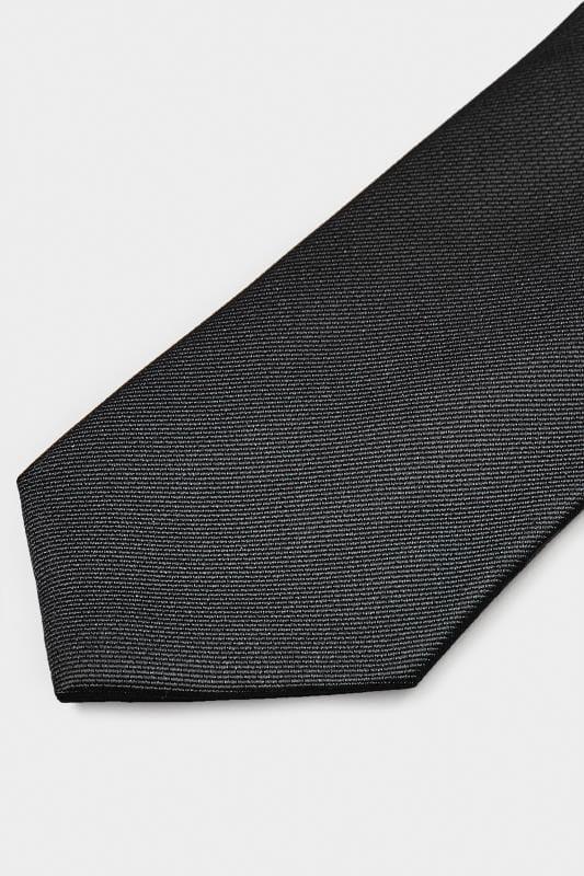 SCOTT & TAYLOR Black Twill Tie