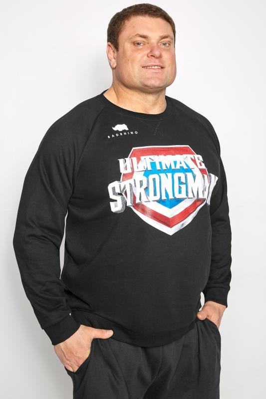 Plus Size Sweatshirts BadRhino Black' Ultimate Strongman' Sweatshirt