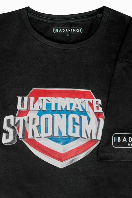 BadRhino Black 'Ultimate Strongman' T-Shirt