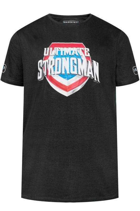 T-Shirts Grande Taille BadRhino Black 'Ultimate Strongman' T-Shirt