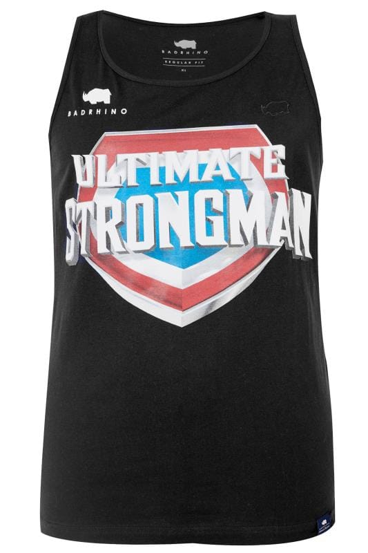 BadRhino Black 'Ultimate Strongman' Vest Top