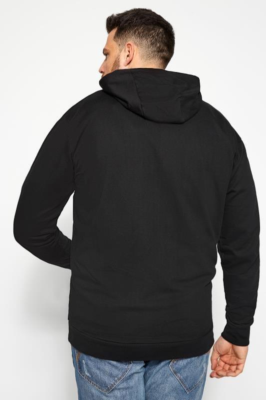 BadRhino Black Zip Through Hoodie