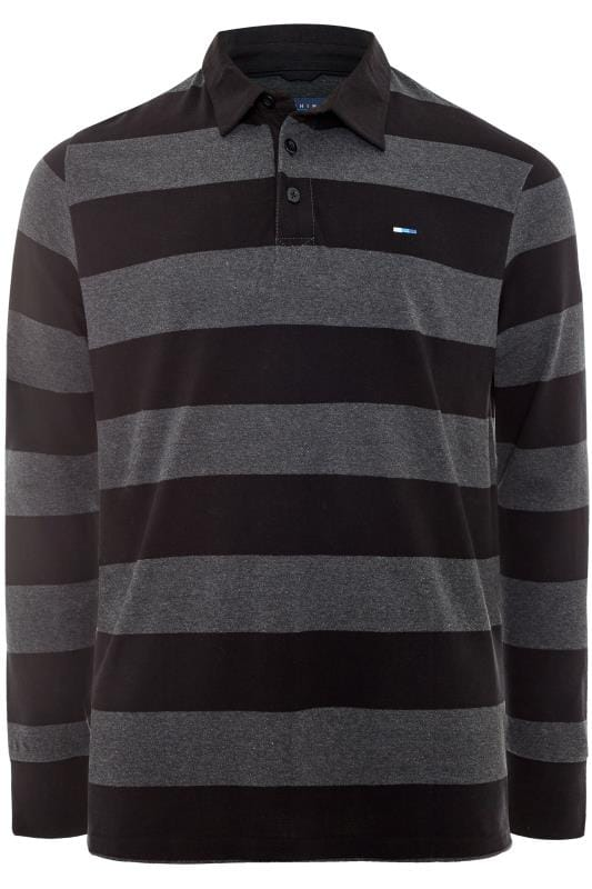 BadRhino Black and Grey Stripe Polo Shirt_b2ec.jpg