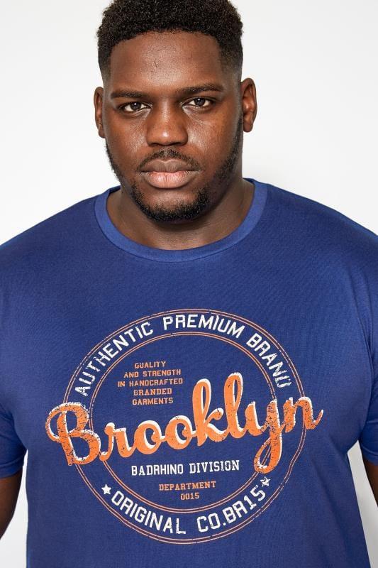 BadRhino Blue Brooklyn Print T-Shirt