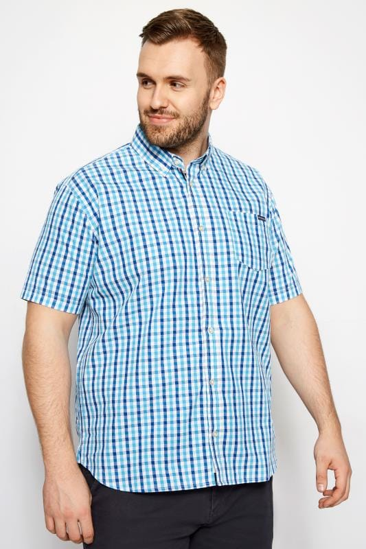 BadRhino Blue Check Short Sleeve Shirt