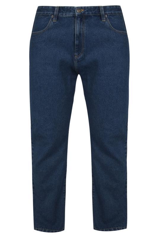 BadRhino Jeans mit geradem Bein - Dunkelblau vorgewaschen