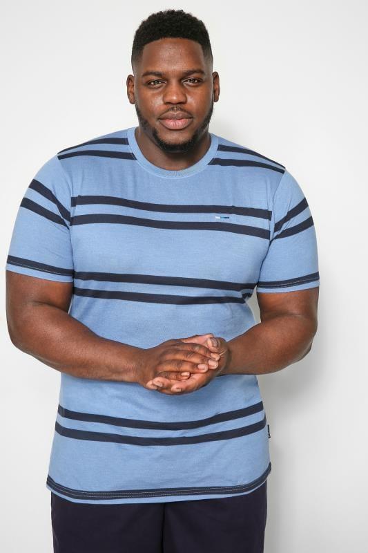 BadRhino Blue Double Stripe T-Shirt