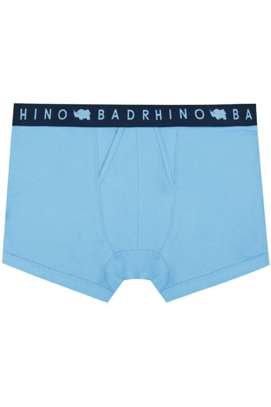BadRhino Blue Elasticated A Front Boxers