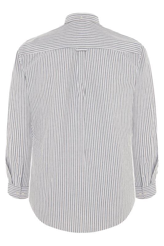BadRhino Blue & Grey Striped Long Sleeved Oxford Shirt_bffa.jpg