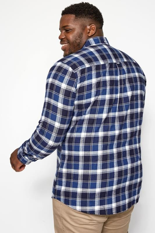 BadRhino Blue Large Check Brushed Shirt
