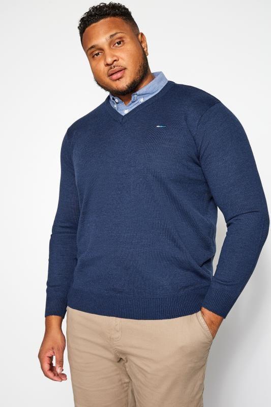 BadRhino Blue Mock Shirt Jumper