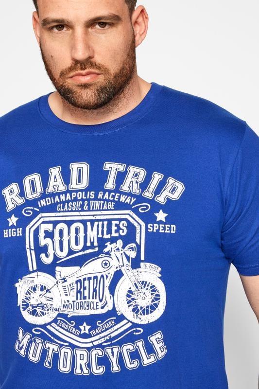 BadRhino Blue Road Trip Graphic Print T-Shirt