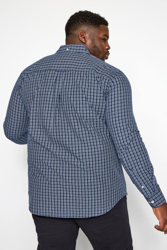 BadRhino Blue Small Check Long Sleeved Shirt