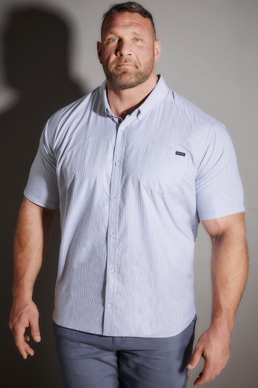 BadRhino Blue Striped Oxford Shirt