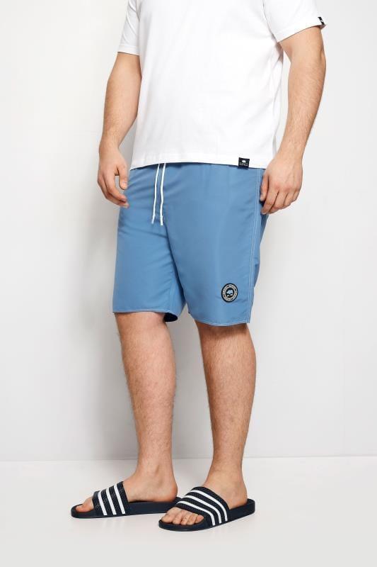 Plus Size Swim Shorts BadRhino Blue Swim Shorts