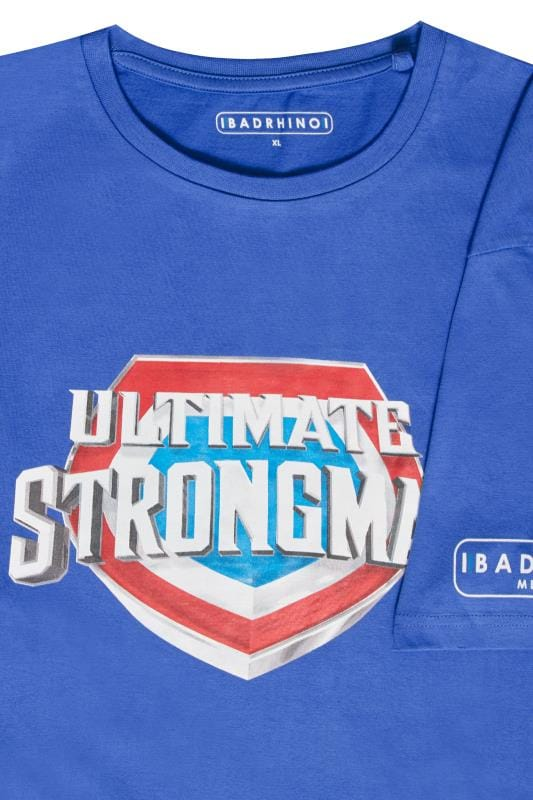 BadRhino Blue 'Ultimate Strongman' T-Shirt