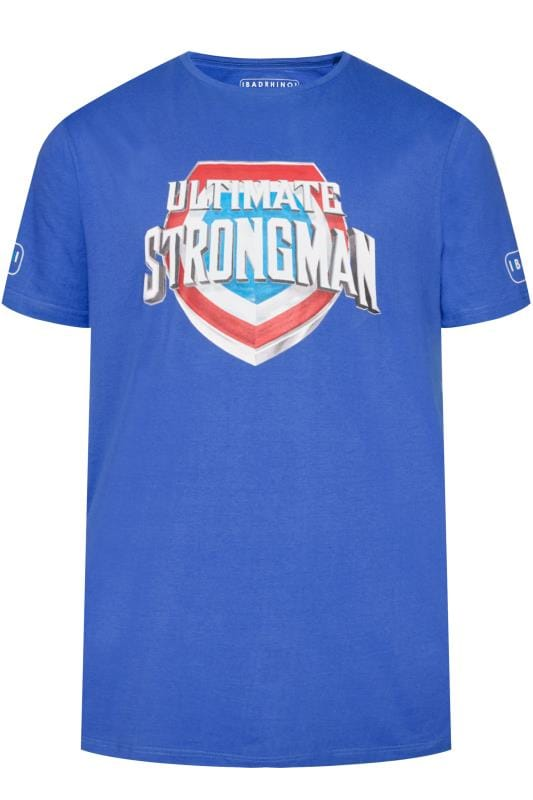 Plus Size T-Shirts BadRhino Blue 'Ultimate Strongman' T-Shirt