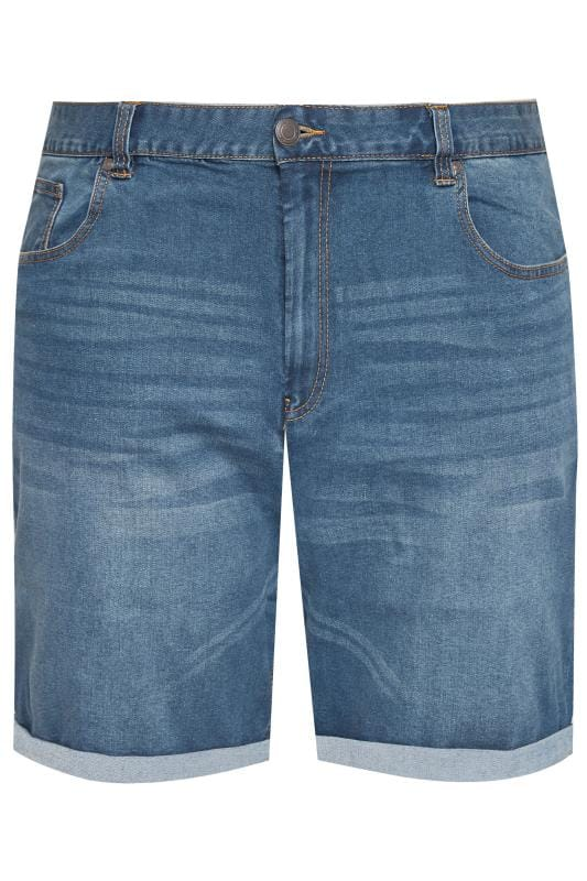 Men's Denim Shorts BadRhino Blue Washed Denim Shorts