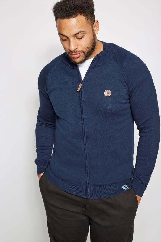 Plus-Größen Jumpers BadRhino Blue Zip Through Jumper