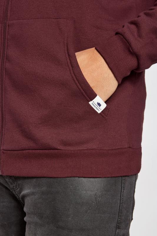 BadRhino Burgundy Basic Sweat Hoodie With Pockets