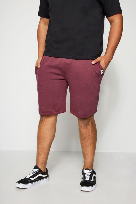 BadRhino Burgundy Basic Sweat Shorts