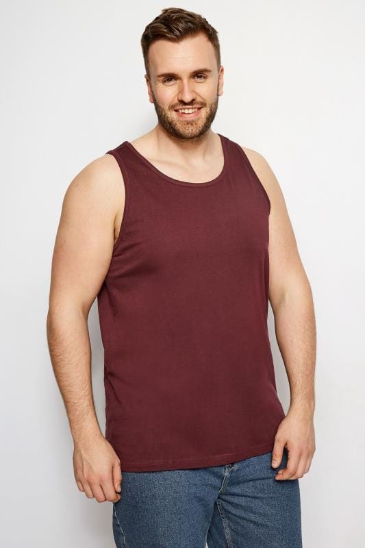 Vests BadRhino Burgundy Cotton Vest Top 200982