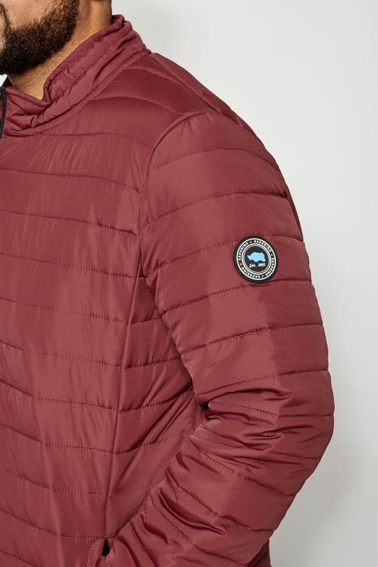 BadRhino Burgundy Padded Zip Through Jacket
