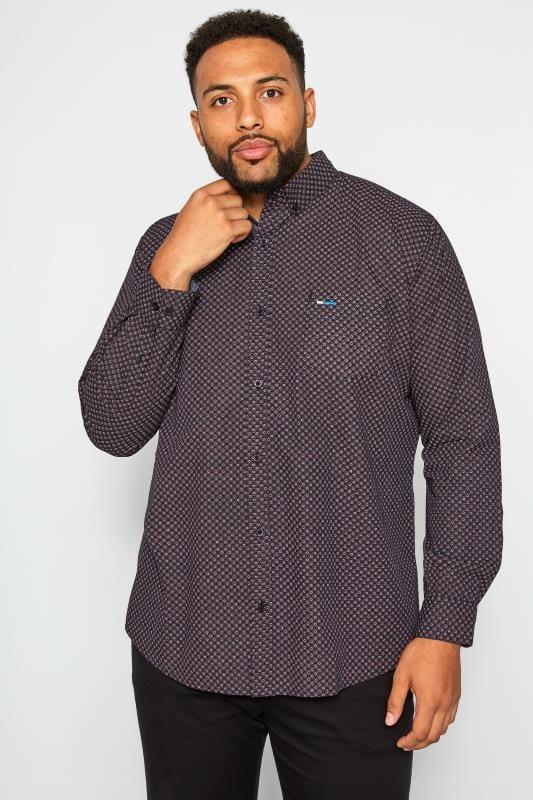 Smart Shirts BadRhino Burgundy Printed Shirt