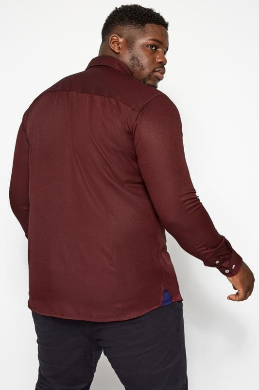 BadRhino Burgundy Smart Twill Shirt