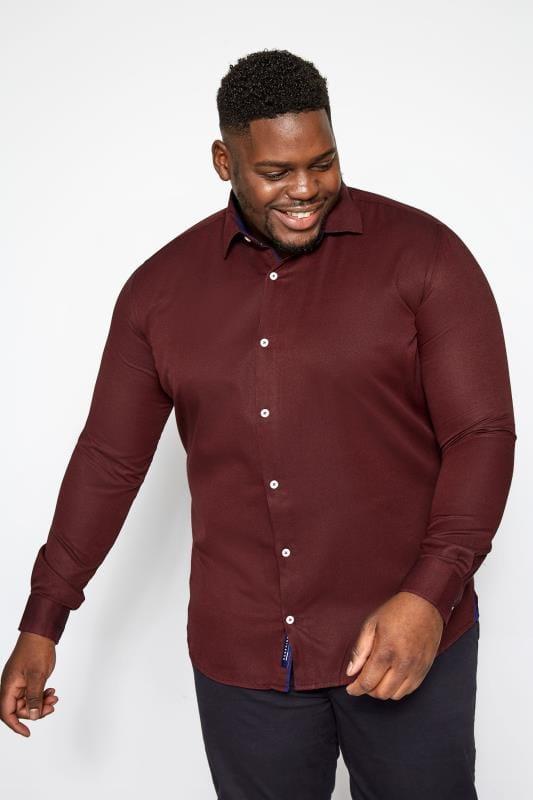 BadRhino Burgundy Smart Twill Shirt