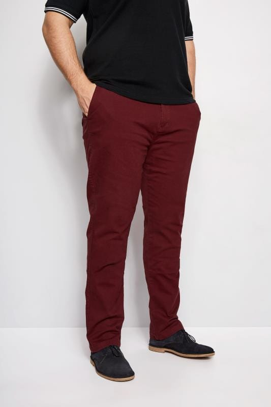 BadRhino Burgundy Stretch Chinos