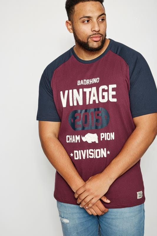 BadRhino Burgundy Vintage T-Shirt