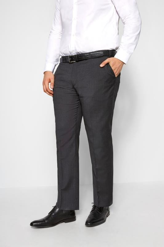 Men's Smart Trousers BadRhino Charcoal Suit Trousers