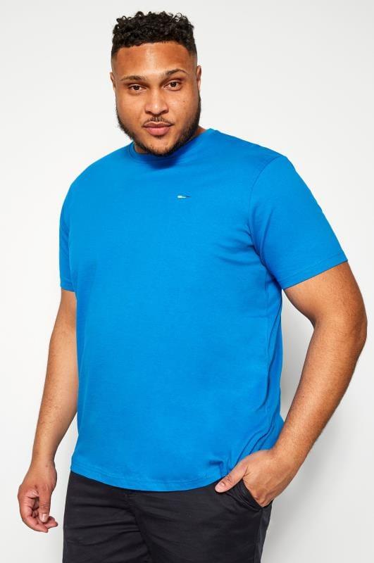 Plus-Größen T-Shirts BadRhino Cobalt Blue Crew Neck T-Shirt