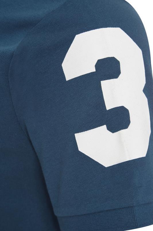 BadRhino Blue Colour Block Stripe Polo Shirt_2a66.jpg
