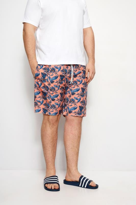 BadRhino Coral Leaf Swim Shorts