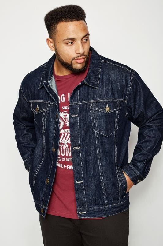 Plus Size Jackets BadRhino Dark Blue Denim Jacket
