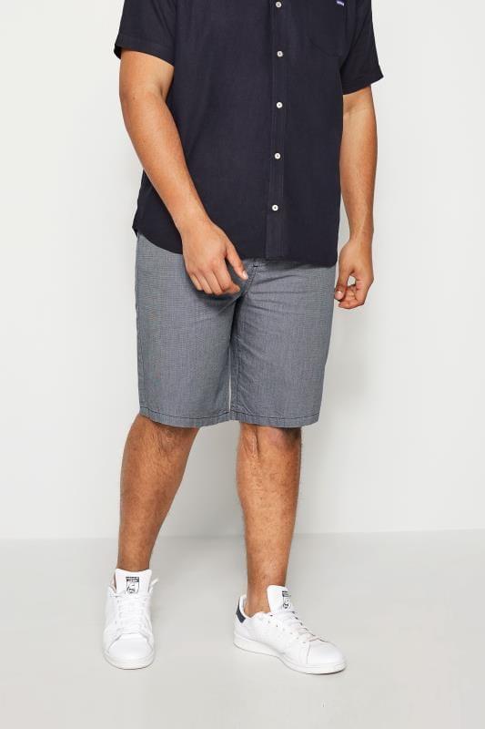 Men's Chino Shorts BadRhino Dark Blue Woven Shorts