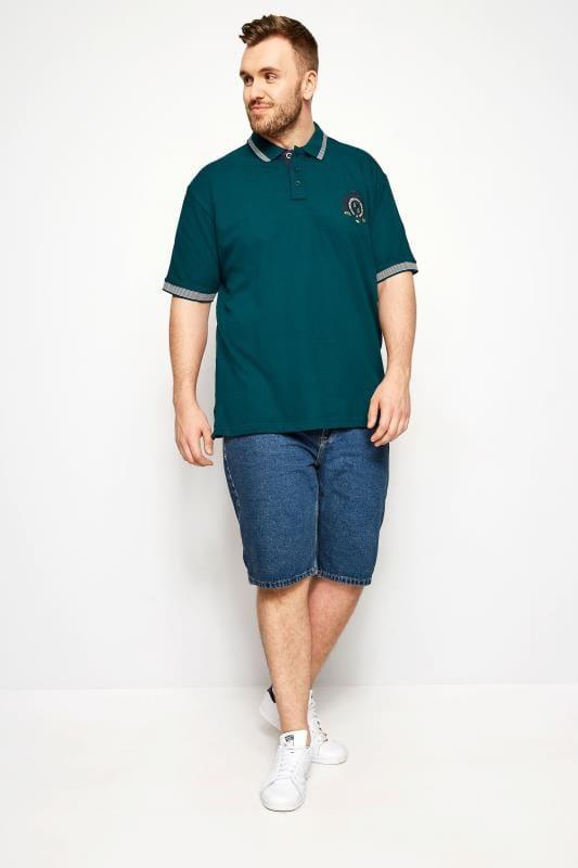 BadRhino Dark Green Tipped Polo Shirt