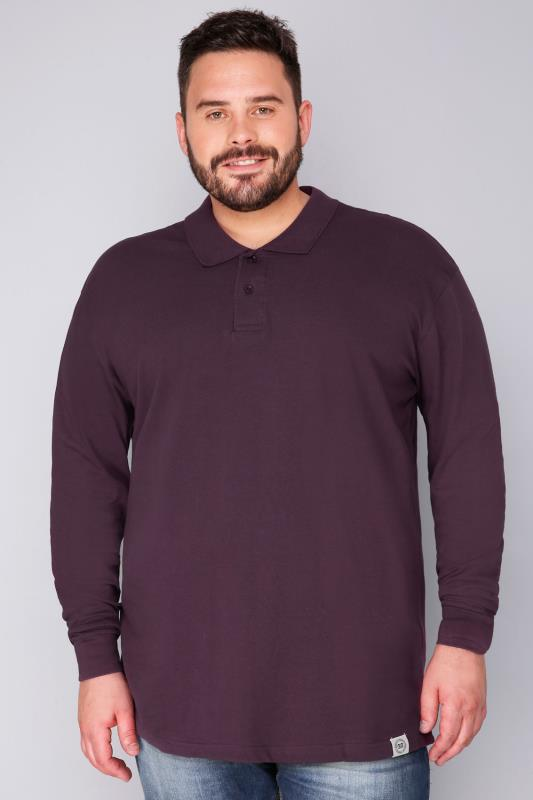 Polo Shirts BadRhino Dark Purple Long Sleeve Polo 110242