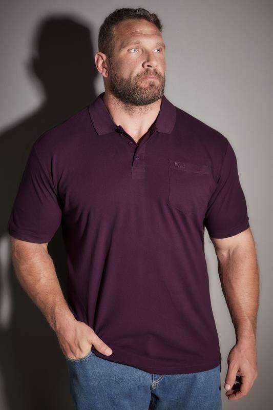 BadRhino Dark Purple Plain Polo Shirt With Chest Pocket
