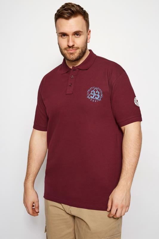 Polo Shirts BadRhino Dark Red Logo Polo Shirt 201003