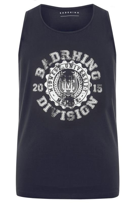 BadRhino Navy 'Division' Graphic Print Vest